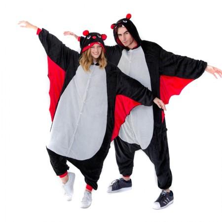 Bat Onesie for Adult Kigurumi Animal Pajamas Funny Halloween Costumes
