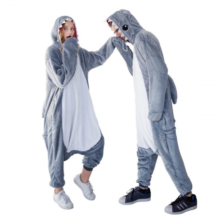 Shark Onesie for Adult Kigurumi Animal Pajamas Funny Halloween Costumes