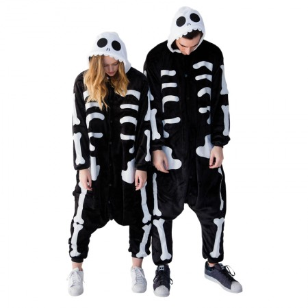 Skeleton Onesie for Adult Animal Funny Halloween Costumes