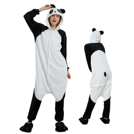 Panda Onesie for Adult Kigurumi Animal Pajamas Funny Halloween Costumes