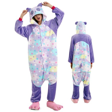 Dream Panda Onesie for Adult Kigurumi Animal Pajamas Funny Halloween Costumes