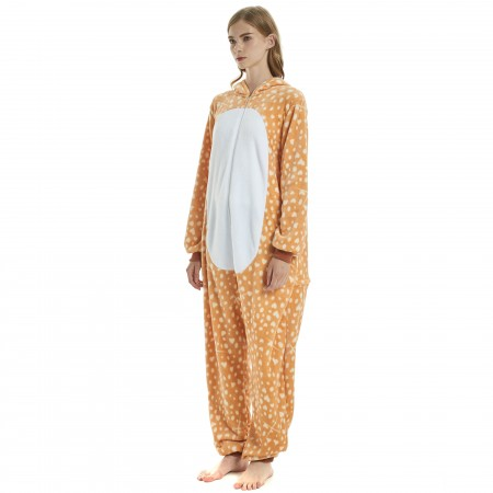 7fe67a196528 Sika Deer Onesie for Adult Kigurumi Animal Pajamas Funny Halloween Costumes