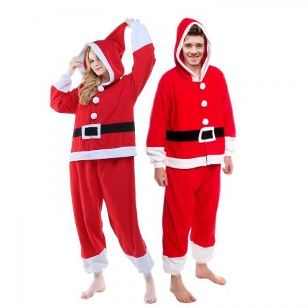 Santa Onesie Suit Costume For Men & Women