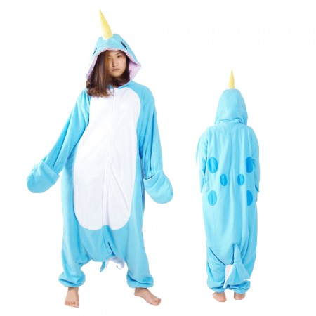 Narwhal Kigurumi Onesie Pajamas Animal Costumes For Adult