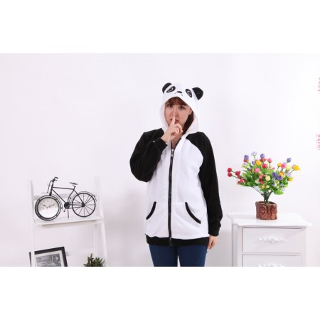 Panda Animal Kigurumi Fleece Hoodie Coat Jacket