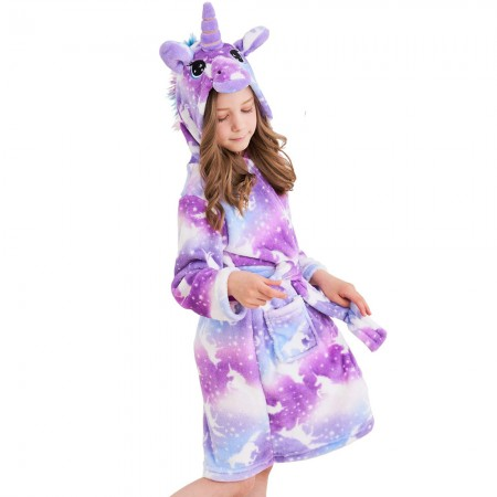Unicorn Hooded Bathrobes For Girls - Best Gifts Soft Sleepwear