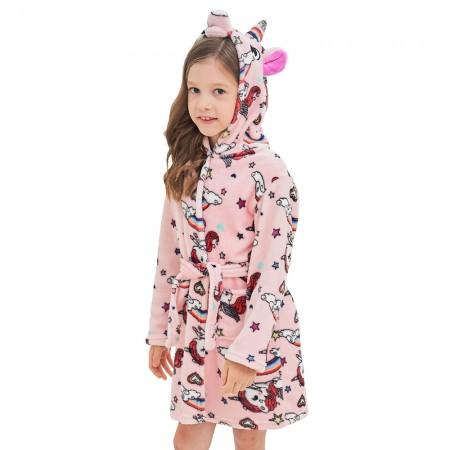 Unicorn Hooded Bathrobes For Girls - Kids Best Unicorn Gifts Soft Sleepwear