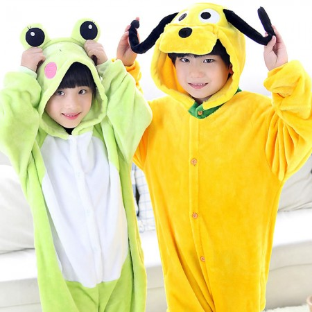 Frog and Pluto Dog Onesie Pajamas Animal Kids Kigurumi