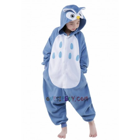 fb94f449 Owl Kigurumi Onesie Pajamas Animal Costumes for Kids