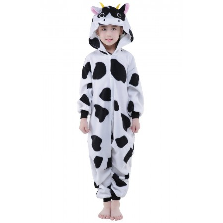 Cow Kigurumi Onesie Pajamas Animal Costumes for Kids