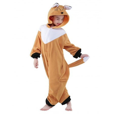Fox Kigurumi Onesie Pajamas Animal Costumes for Kids