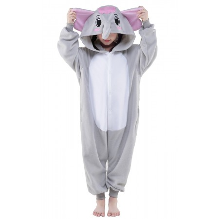 Grey Elephant Kigurumi Onesie Pajamas Animal Costumes for Kids