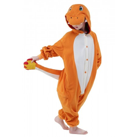 Fiery Dragon Kigurumi Onesie Pajamas Animal Costumes for Kids