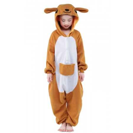 Kangaroo Kigurumi Onesie Pajamas Animal Costumes for Kids
