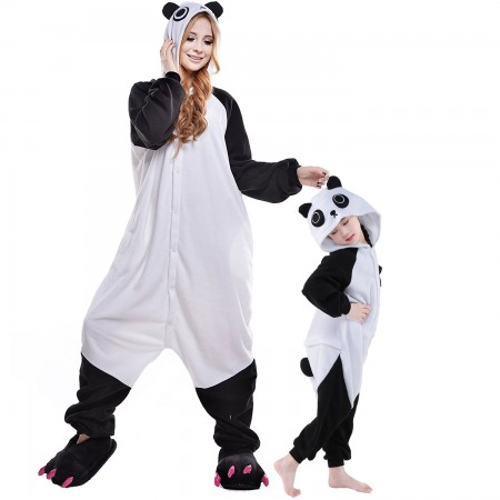 Panda Kigurumi Onesie Pajamas Animal Costumes for Kids