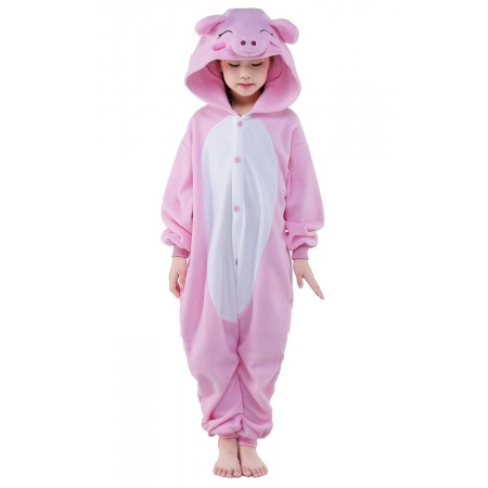 Pink Pig Kigurumi Onesie Pajamas Animal Costumes for Kids