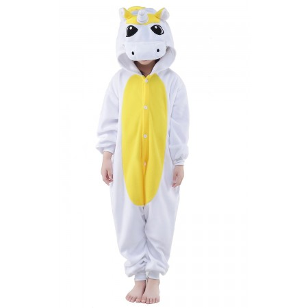 Yellow Kigurumi Onesie Pajamas Animal Costumes for Kids