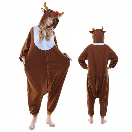 Reindeer Onesie Pajamas Kigurumi Animal Costumes For Adult