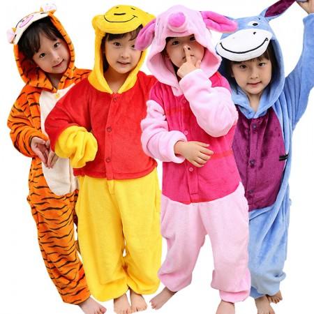 3b1710e41d2e Kids Winnie the Pooh Onesies   Tigger   Piglet   Eeyore Pajamas for Girls  Boys