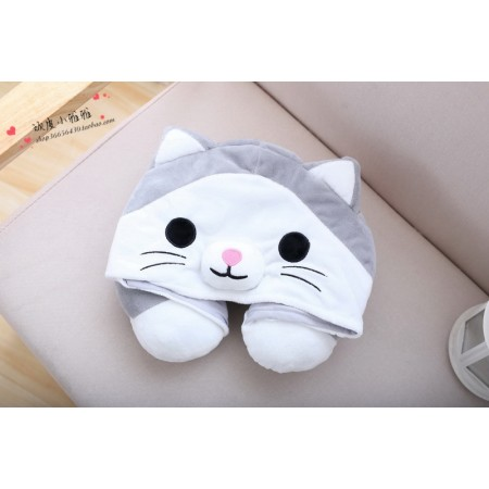 Cute Cat Neck Pillow
