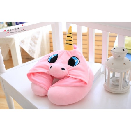 Pink Unicorn Neck Pillow