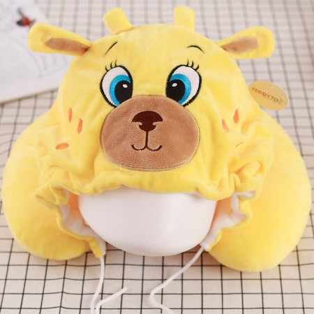 Yellow Deer Neck Pillow