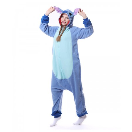 Cute Blue Stitch Onesie Pajama For Women Men
