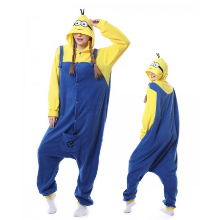 Cute Minions Onesie Pajama Winter Warm Animal Costume For Women & Men