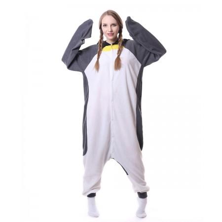 d656a20f537d Gray Penguin Onesie Pajama Animal Costumes For Women   Men