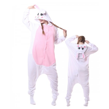 White Raabit Bunny Onesie Pajama Animal Costumes For Women & Men