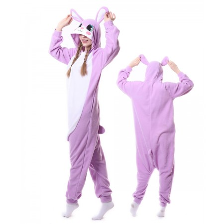 737c0c6d14dd Purple Rabbit Bunny Onesie Pajama Animal Costumes For Women   Men