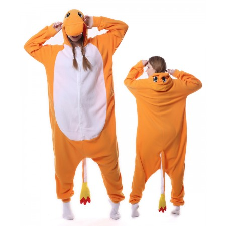 Charmander Onesie Pajama Animal Costumes For Women & Men