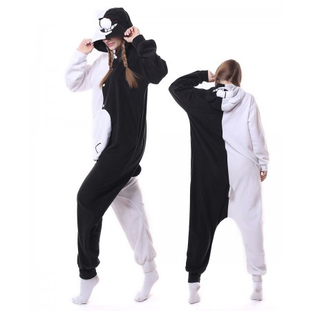 Black & White Bear Monokuma Onesie Pajama Animal Costumes For Women & Men