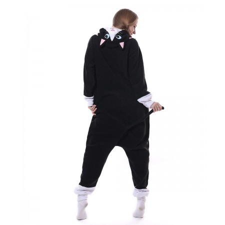 Black Cat Onesie Pajama Animal Costumes For Women   Men 3894106bc