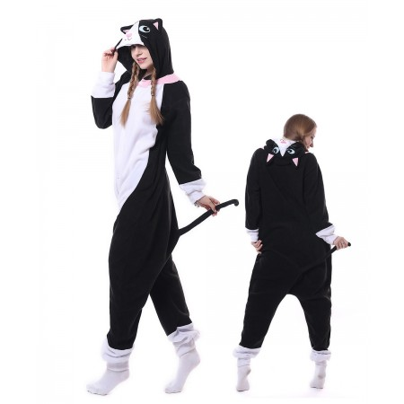 e1d2c158e065 Black Cat Onesie Pajama Animal Costumes For Women   Men