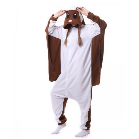 e08762e84676 Brown Flying Squirrel Onesie Pajama Animal Costumes For Women   Men
