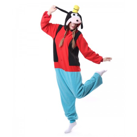 17e5f64d0346 Goofy Dog Onesie Pajama Animal Costumes For Women   Men