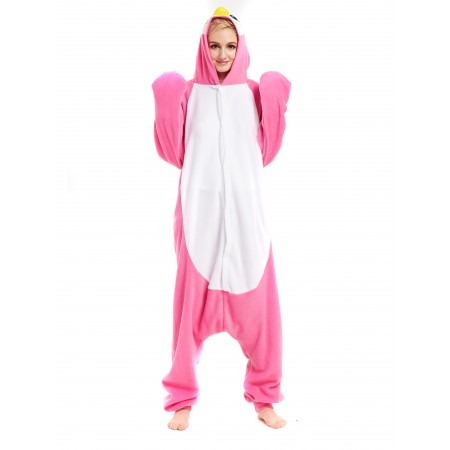 Pink Penguin Kigurumi Onesie Pajamas Animal Costumes For Women & Men