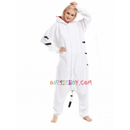184a35351554 White Tiger Kigurumi Onesie Pajamas Animal Costumes For Women   Men