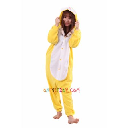 a3ae607a2 Yellow Rabbit Kigurumi Onesie Pajamas Animal Costumes For Women   Men