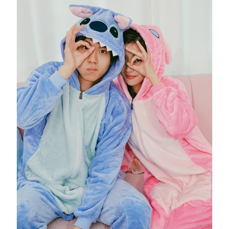 Lilo Stitch Onesie Pajamas Animal Halloween Costumes For Women Men With Zipper