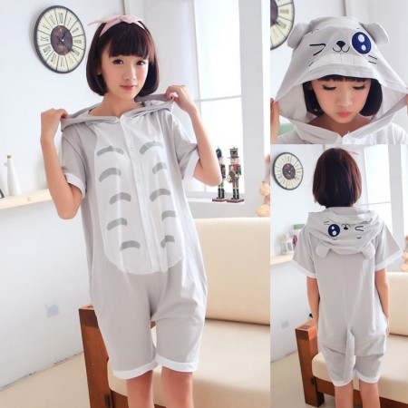 Blink Totoro Pajamas Animal Onesie Hoodie Kigurumi Short Sleeve