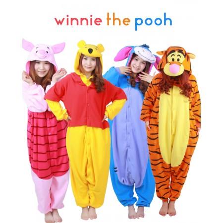 2fadcabee52c Winnie the Pooh Onesies   Tigger   Piglet   Eeyore Pajamas for Adult