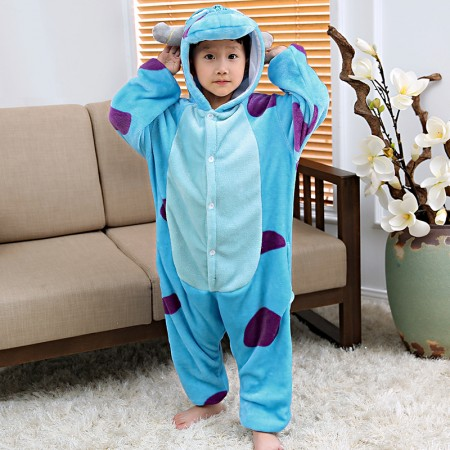 Kids Sulley Onesie Pajamas Animal Costumes Onesies for Boys & Girls
