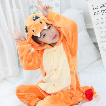 Kids Charmander onesie pajamas for Boys & Girls