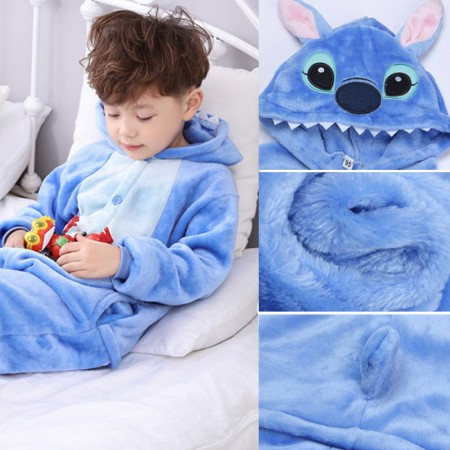 Lilo & Stitch Onesie Pajamas Animal Kigurumi Costumes for Kids