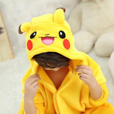 Pikachu Onesie Pajamas Animal Kigurumi Pokemon Costumes for Kids