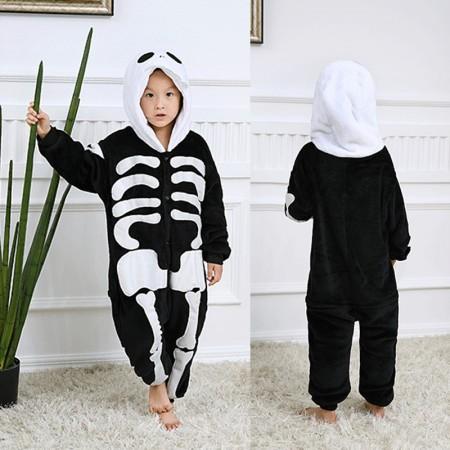 Skull Skeleton Onesie Pajamas Animal Kigurumi Halloween Costumes for Kids