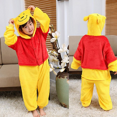 Winnie the Pooh Onesie Pajamas Animal Kigurumi Disney Costumes for Kids
