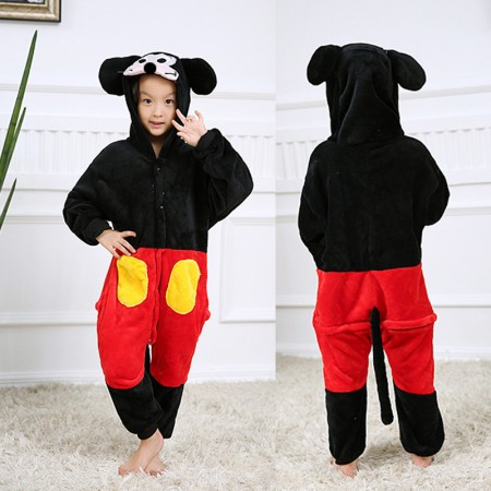 Mickey Mouse Onesie Pajamas Animal Kigurumi Disney Costumes for Kids